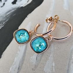 Σκουλαρίκια Oberon Crystal lightblue