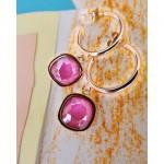 Σκουλαρίκια Oberon Crystal pink