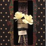 Λαμπάδα Λουλούδια με επιγραφή - Σοκολά