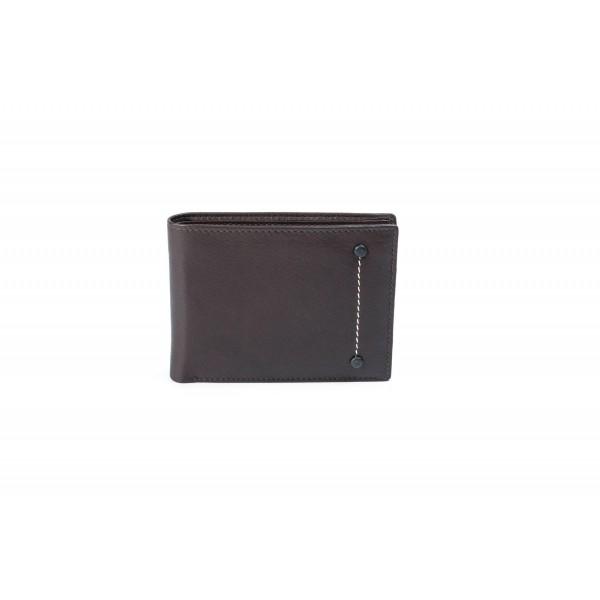Ανδρικό δερμάτινο πορτοφόλι Fetiche An 5-986 d.brown
