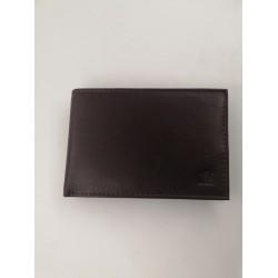 """Ανδρικό πορτοφόλι δερμάτινο """"Kappa"""" 15brown"""