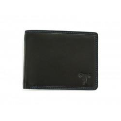 """Ανδρικό δερμάτινο πορτοφόλι """"Kion"""" Ds-324 black blue"""